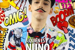 Nuno Roque on the cover of ULISEX Magazine in Mexico - Fashion Moustache Bow Tie - Comics Overdose (Duck)