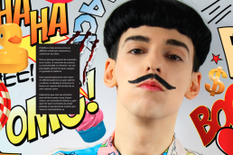Portrait of Nuno Roque - Comics Overdose (Duck) artwork - Magazine double page - Ulisex LGBT