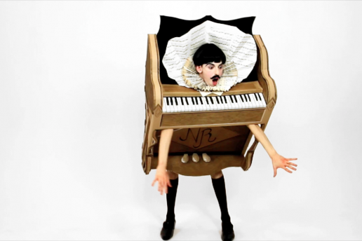 'The Piano Body' (sculpture) in My Cake (film) - Nuno Roque - Wearable Sculpture - Contemporary Art - Pop Music